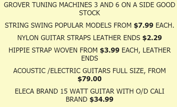 wholesale music instrument distributor specials, dropshipping available